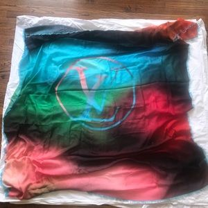 Rainbow Louis Vuitton Scarf / Wrap